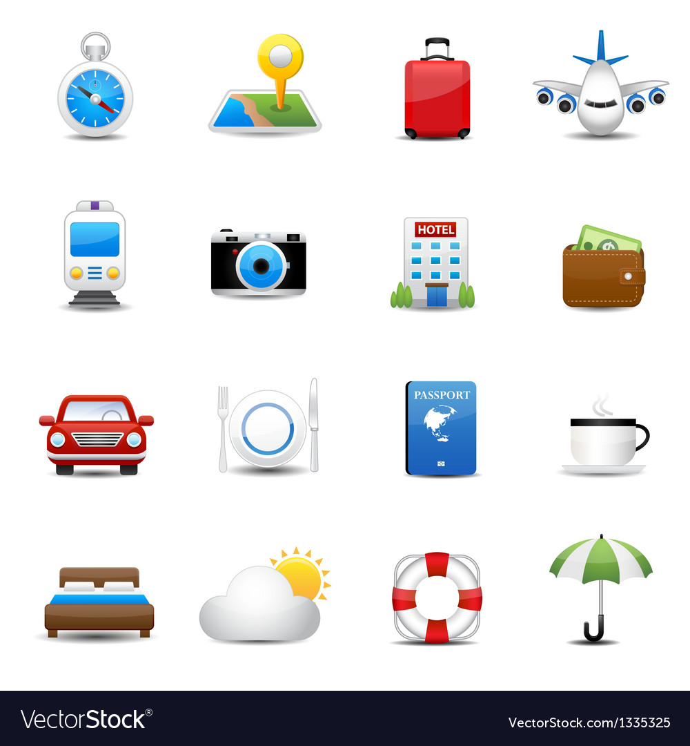 Travel and hotel icons vector | Price: 3 Credit (USD $3)