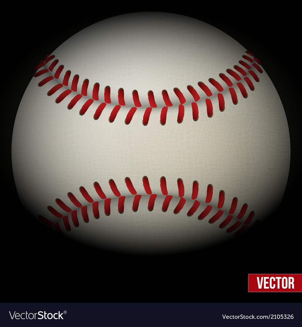 Background of baseball leather ball various sides vector | Price: 1 Credit (USD $1)