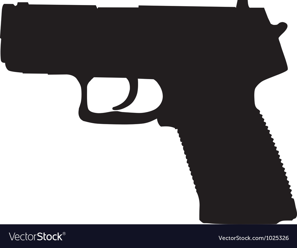 Compact pistol outline vector | Price: 1 Credit (USD $1)