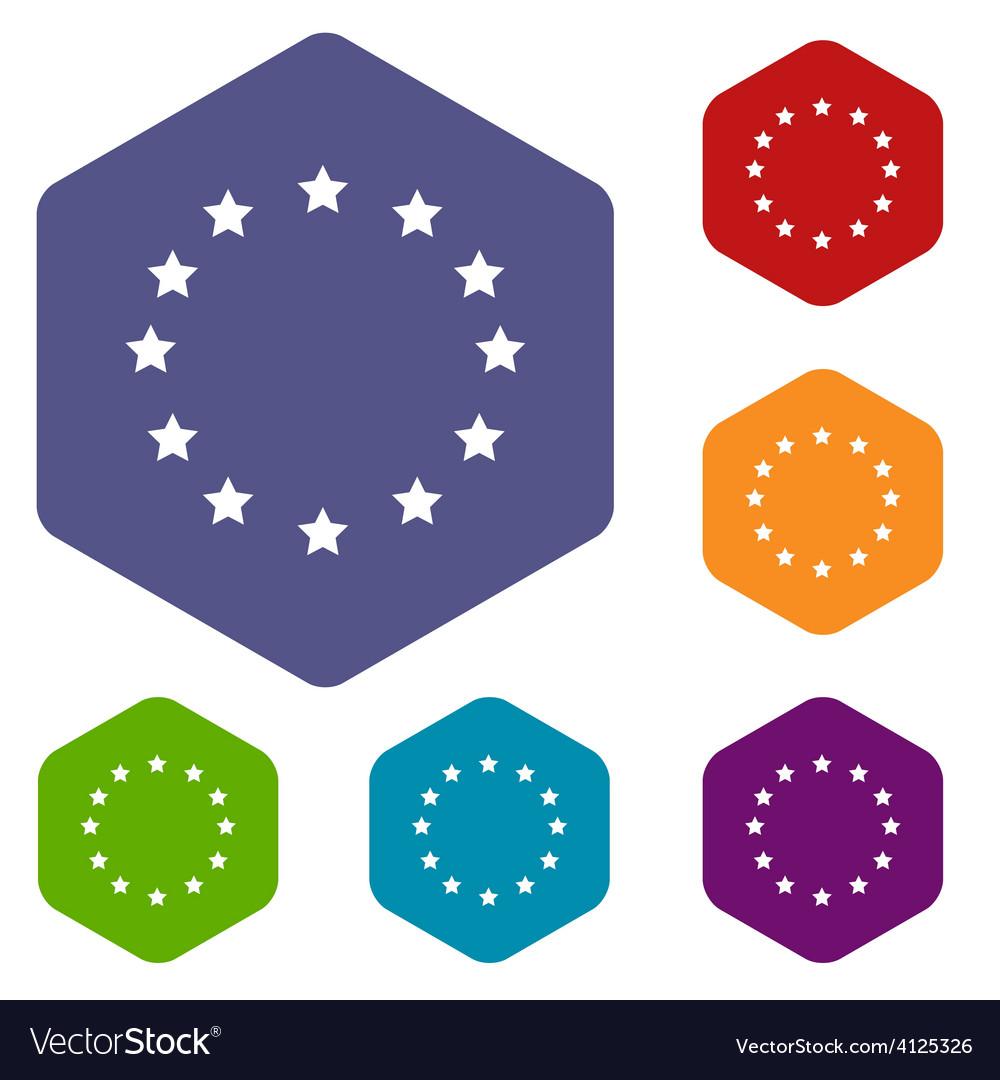 European union rhombus icons vector | Price: 1 Credit (USD $1)