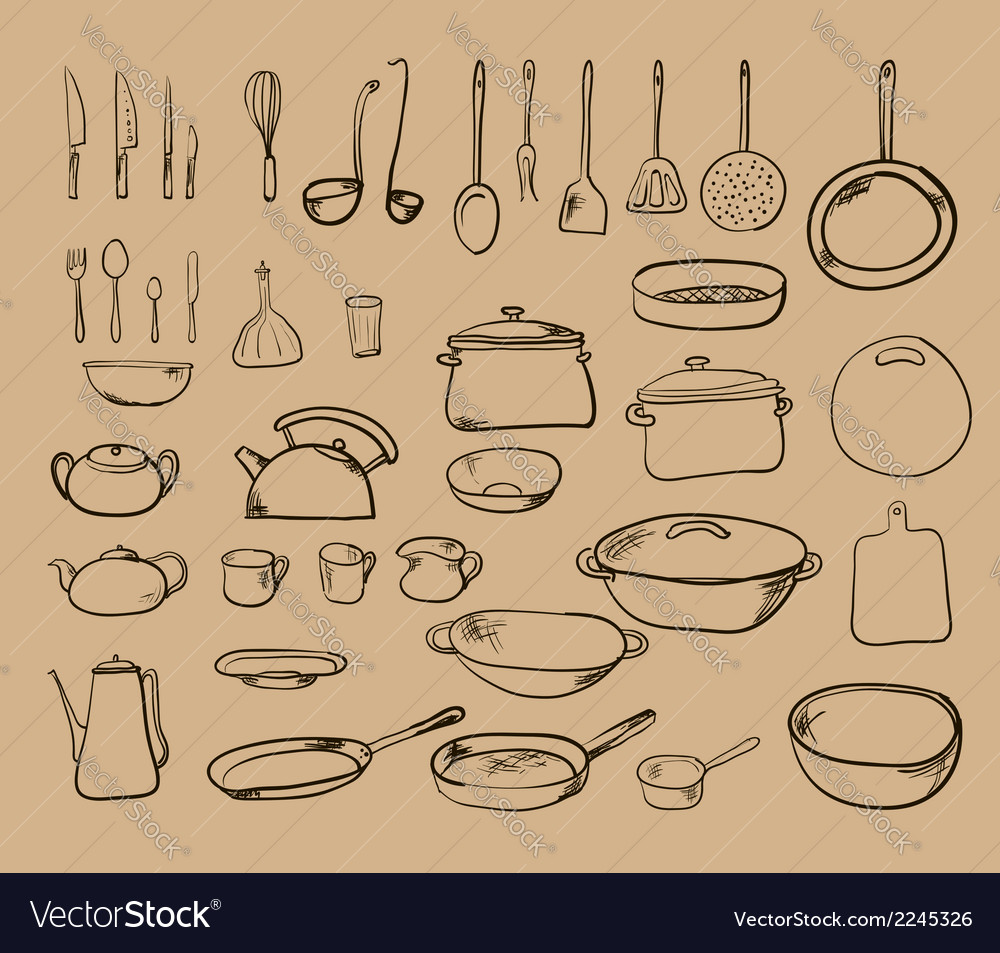 Kitchen tool collection - silhouette vector | Price: 1 Credit (USD $1)