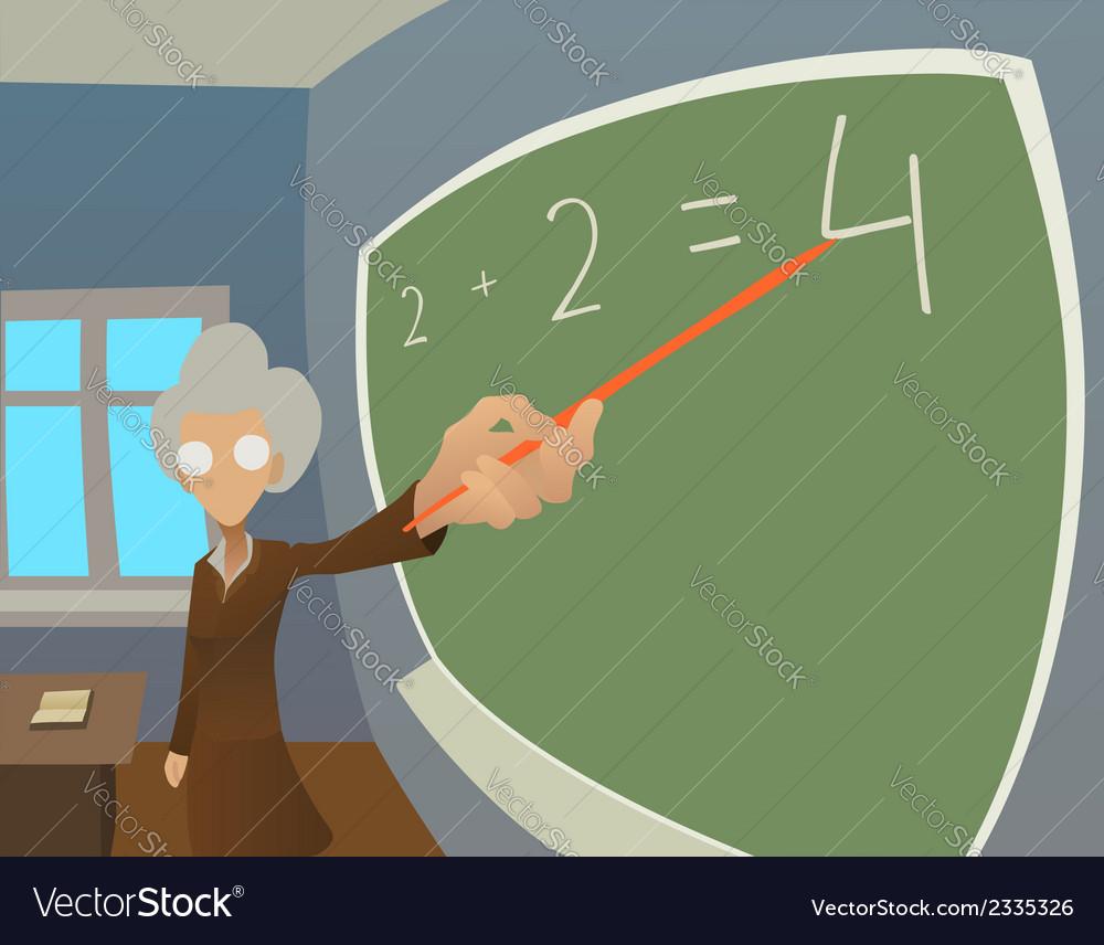 Old teacher vector | Price: 1 Credit (USD $1)