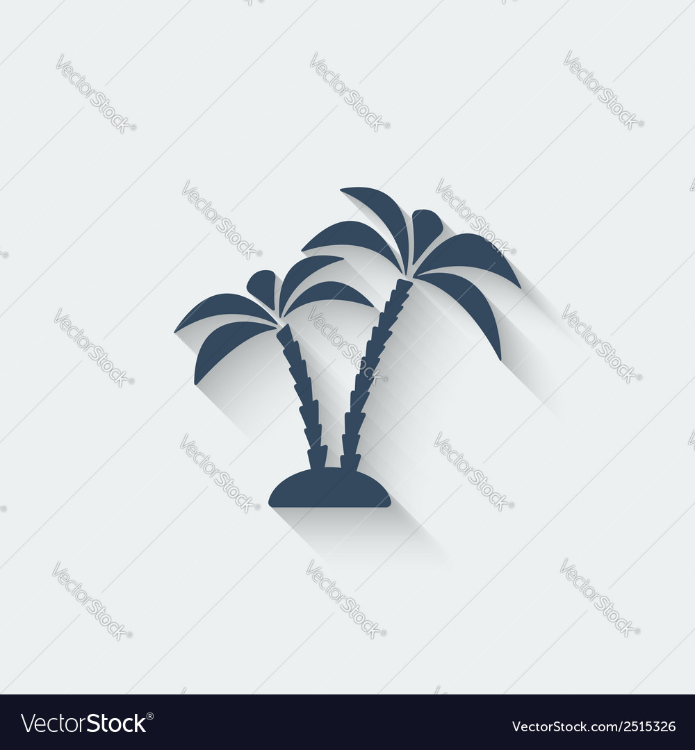 Palm island vector | Price: 1 Credit (USD $1)