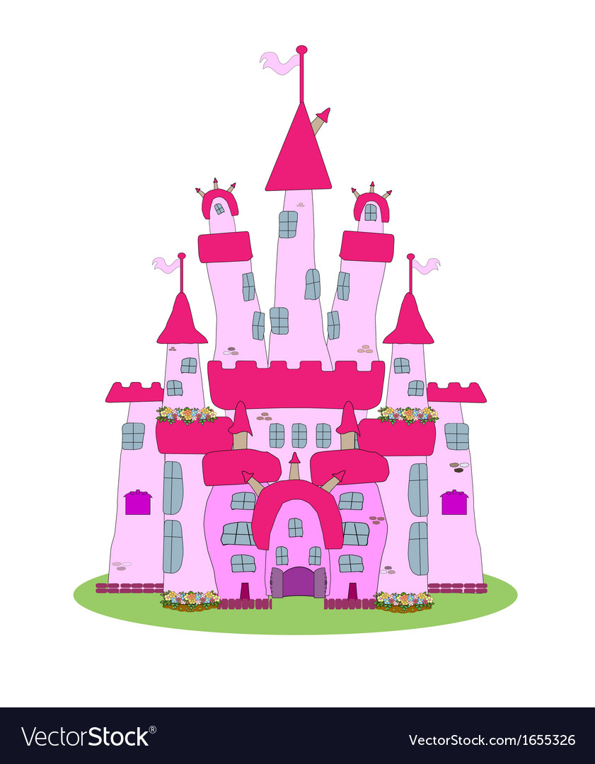 Pink castle - vector | Price: 1 Credit (USD $1)