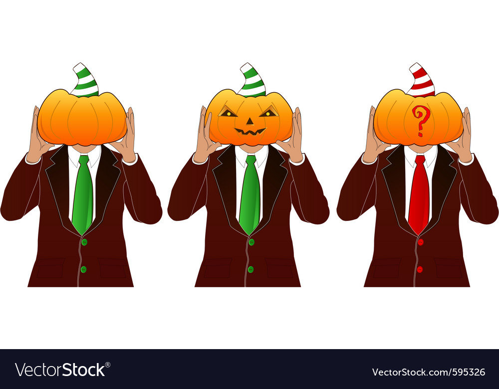 Pumpkin head man vector | Price: 1 Credit (USD $1)