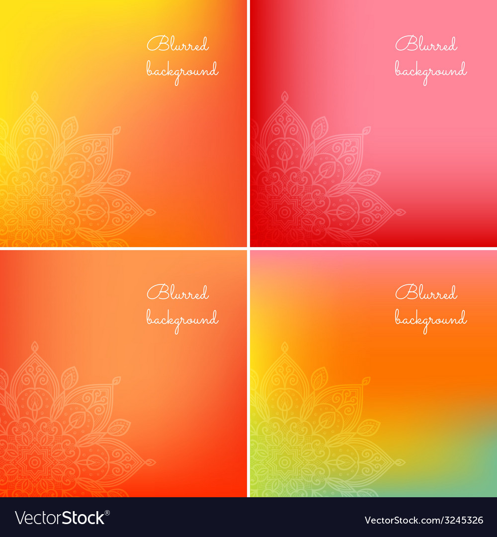 Set of blurred backgrounds vector | Price: 1 Credit (USD $1)