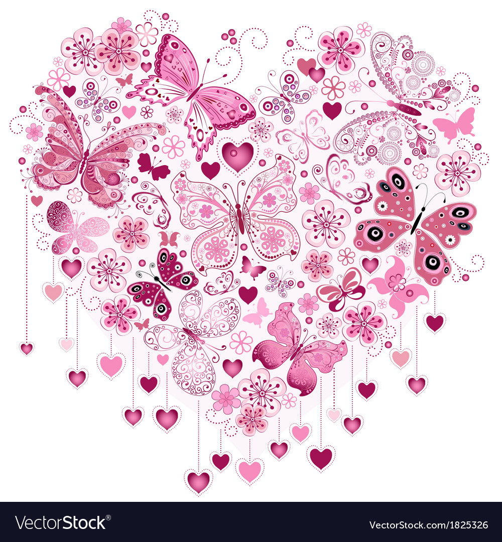 Valentine pink big heart vector | Price: 1 Credit (USD $1)