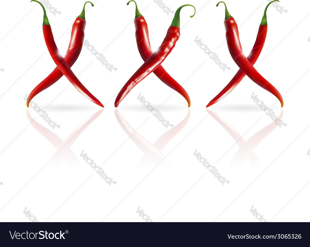 Xxx symbol of pepper vector | Price: 1 Credit (USD $1)