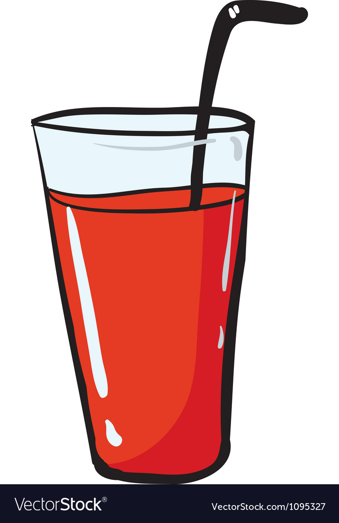 A glass and a straw vector | Price: 1 Credit (USD $1)