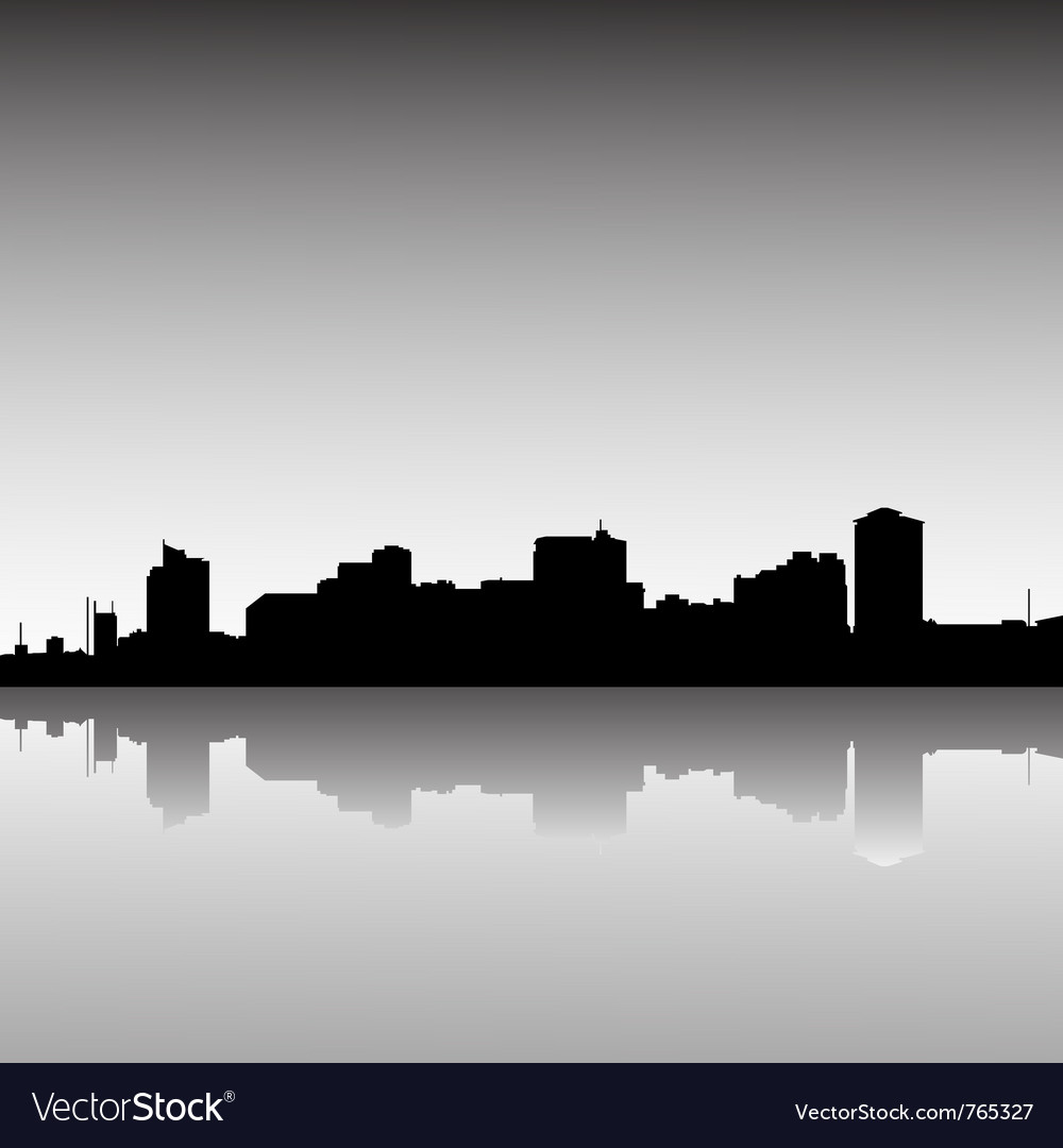City skyline dusk vector | Price: 1 Credit (USD $1)