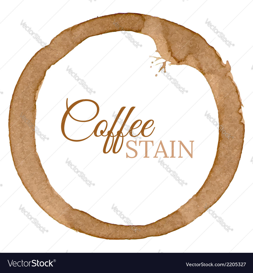 Coffee cup stain background vector | Price: 1 Credit (USD $1)