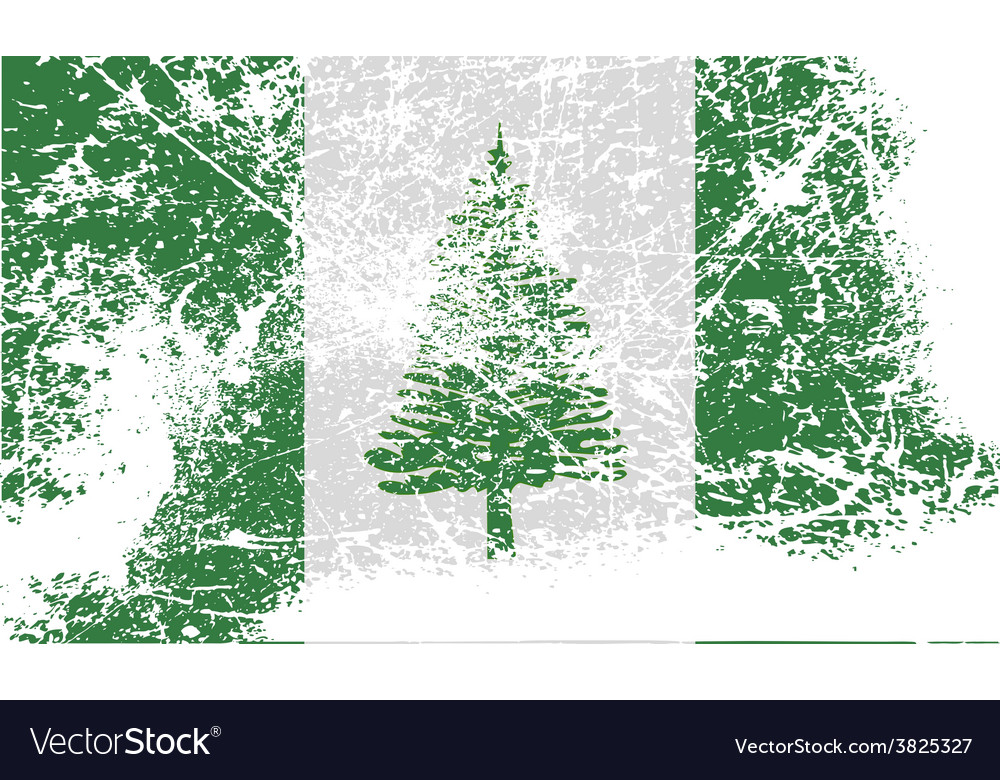 Flag of norfolk island with old texture vector | Price: 1 Credit (USD $1)