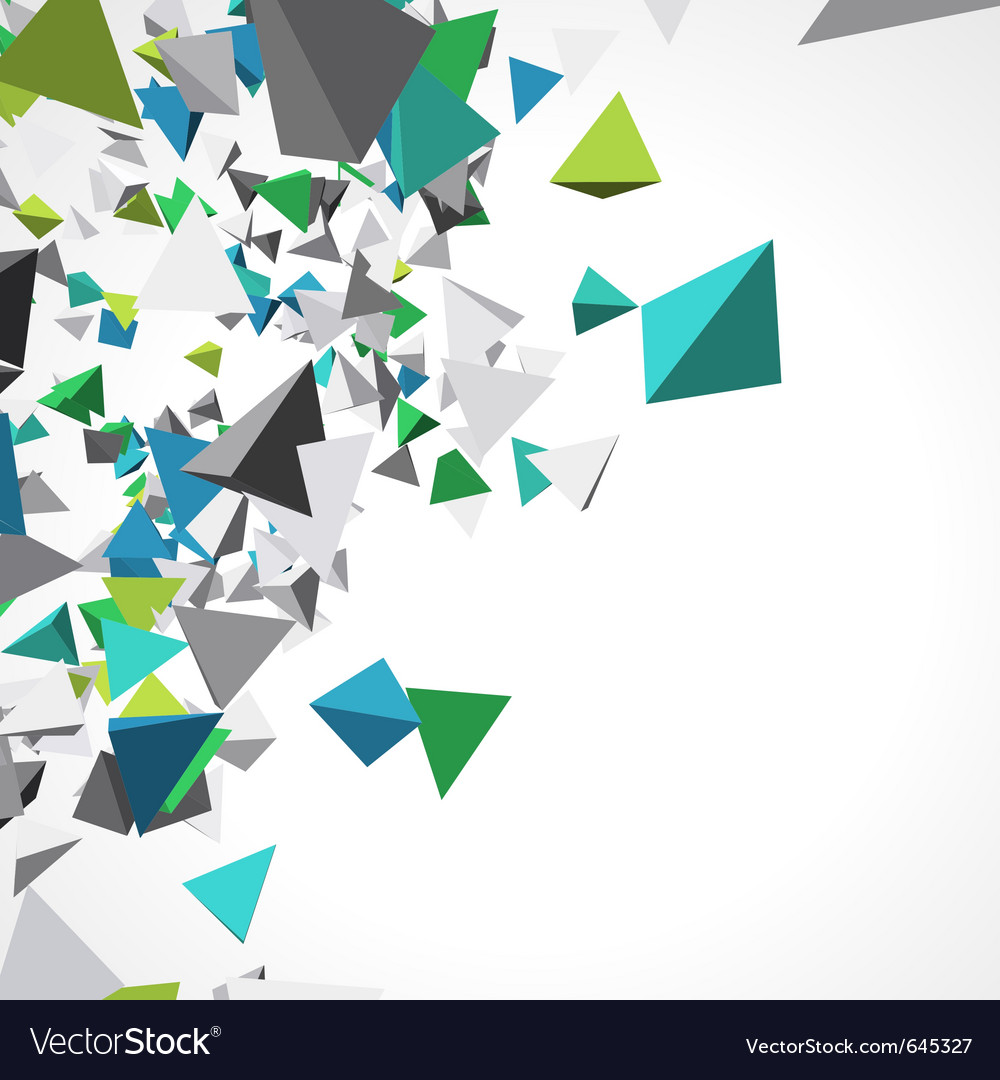 Fly colorful 3d pyramids background vector | Price: 1 Credit (USD $1)