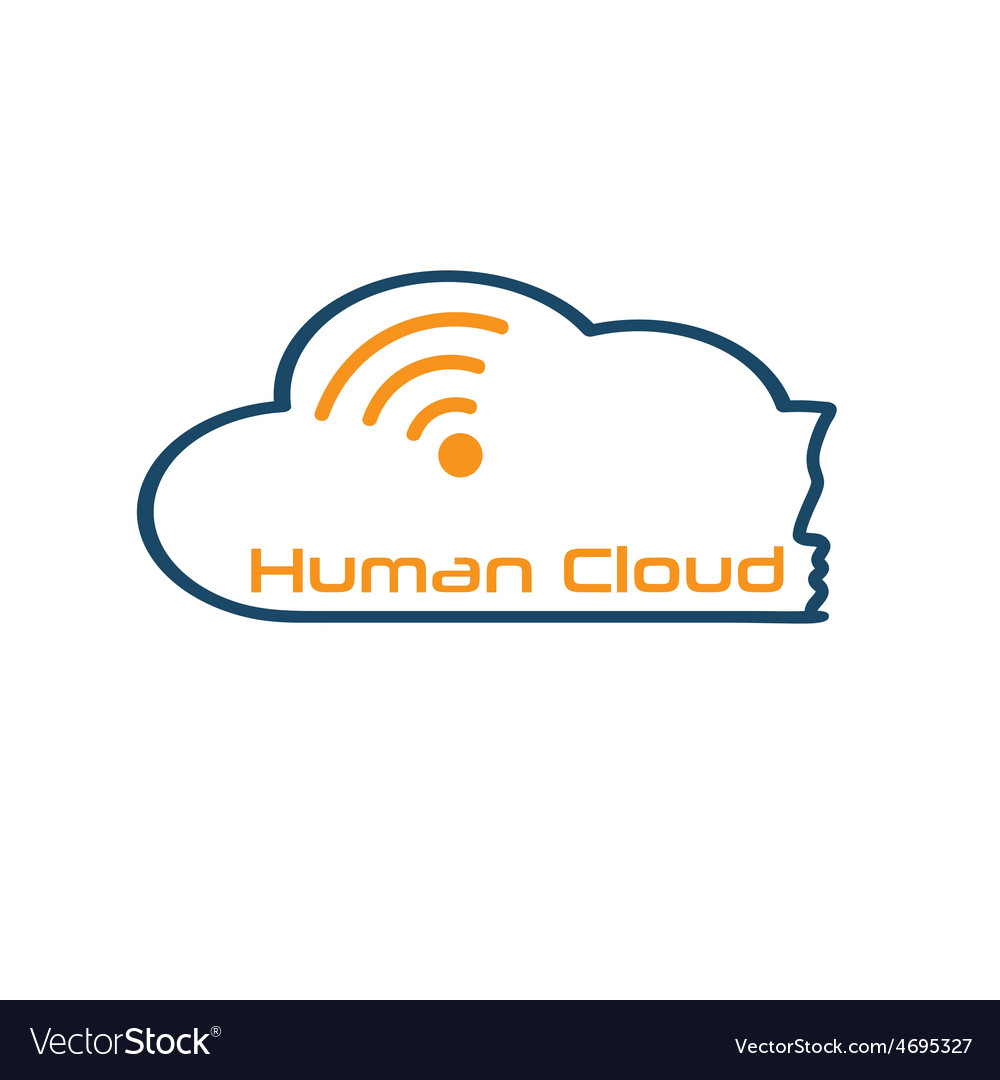 Human cloud concept vector | Price: 1 Credit (USD $1)