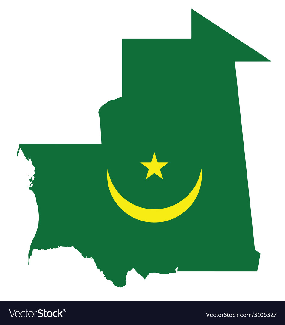 Mauritania flag vector | Price: 1 Credit (USD $1)
