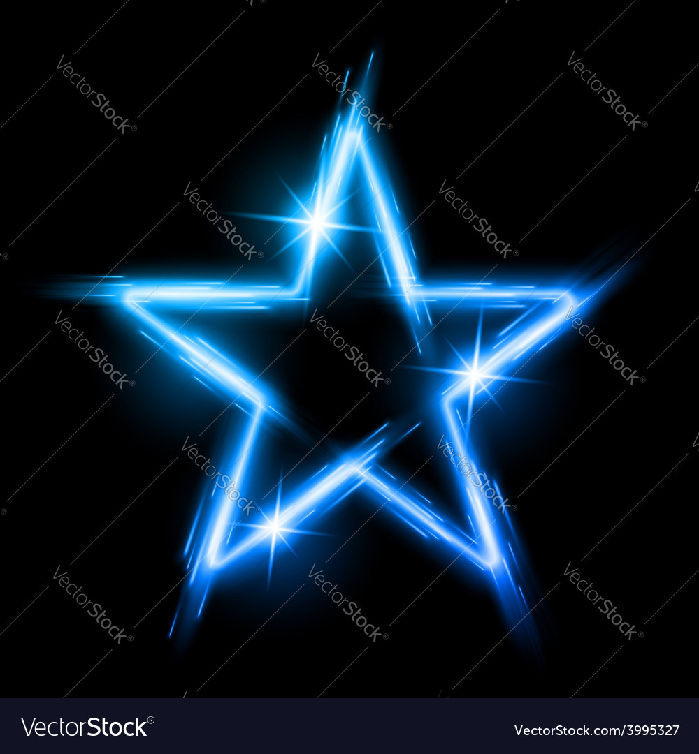 Neon star vector | Price: 1 Credit (USD $1)