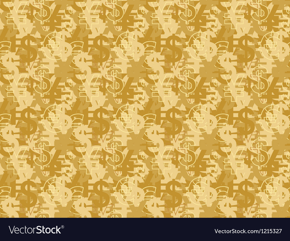 Pattern with currency signs vector | Price: 1 Credit (USD $1)