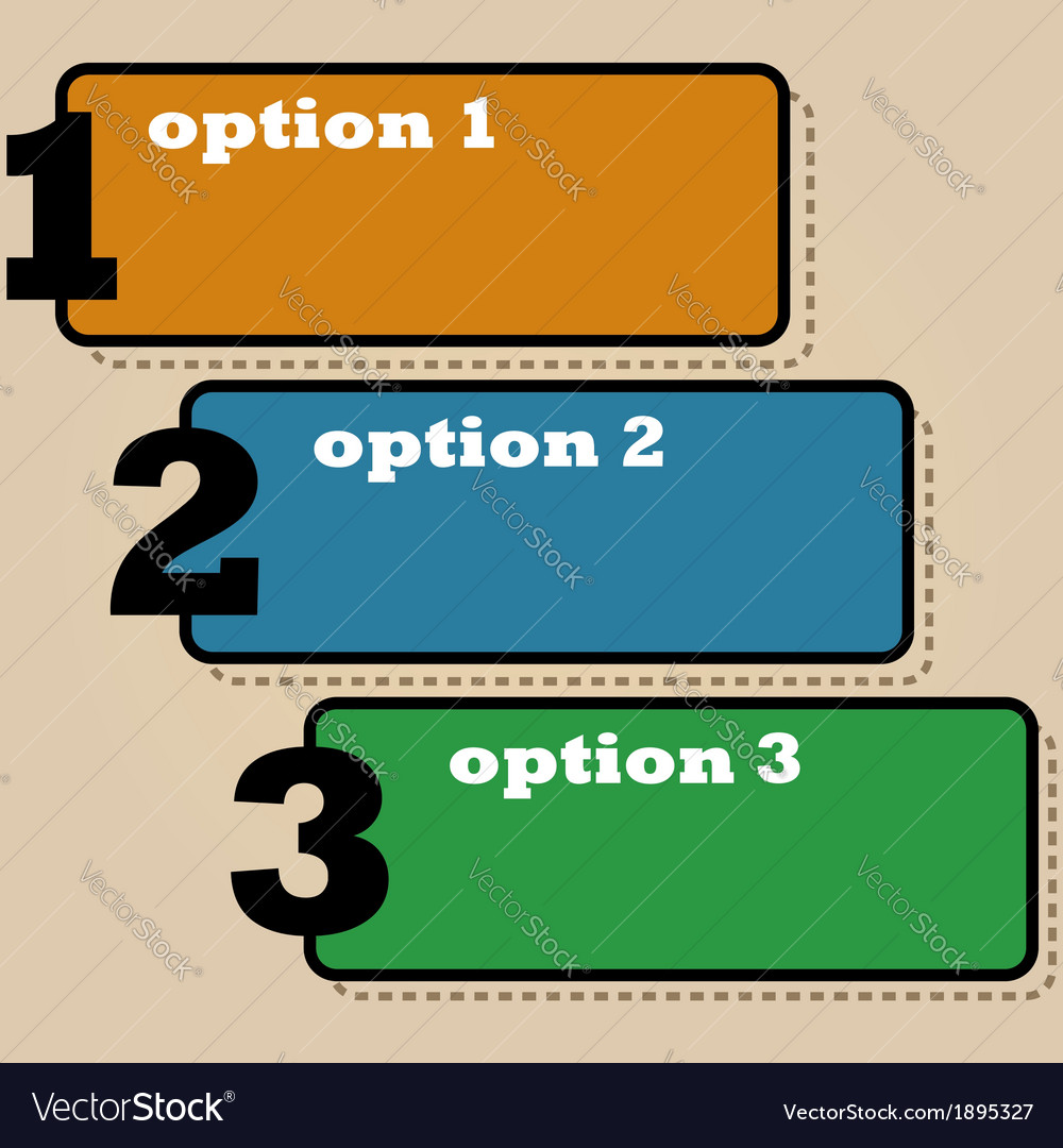 Three options vector | Price: 1 Credit (USD $1)