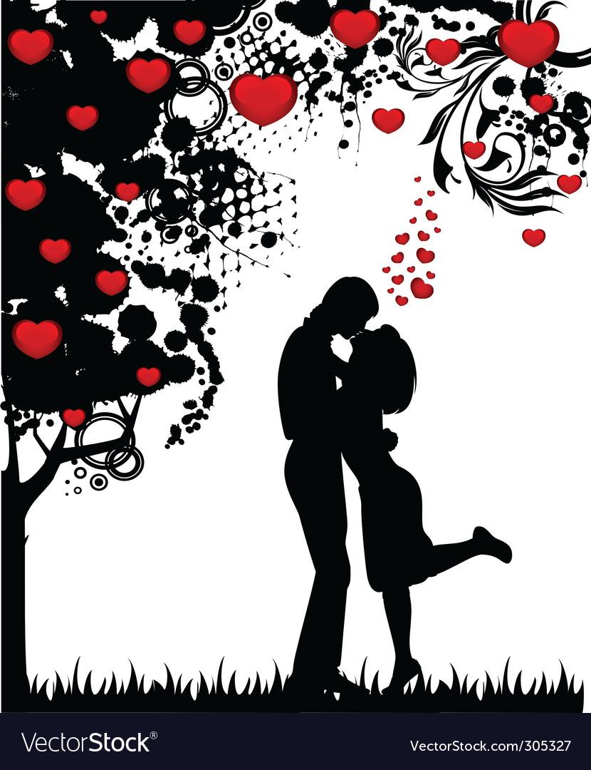Valentine's couple vector | Price: 1 Credit (USD $1)