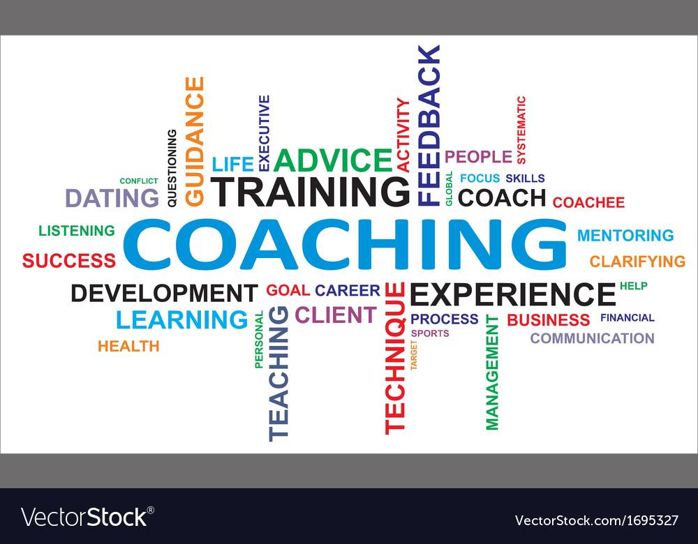 Word cloud coaching vector | Price: 1 Credit (USD $1)