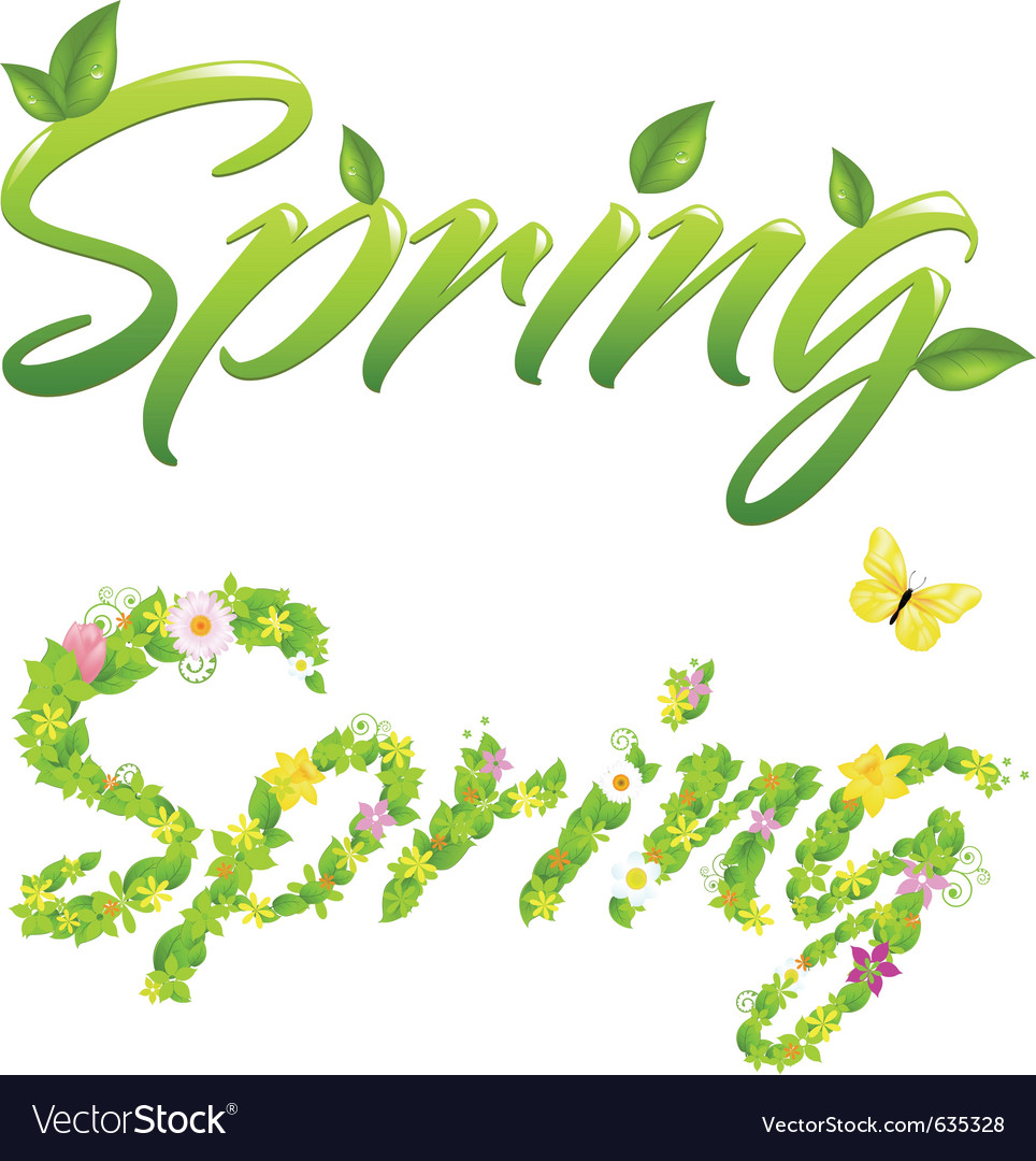 2 spring words vector | Price: 1 Credit (USD $1)