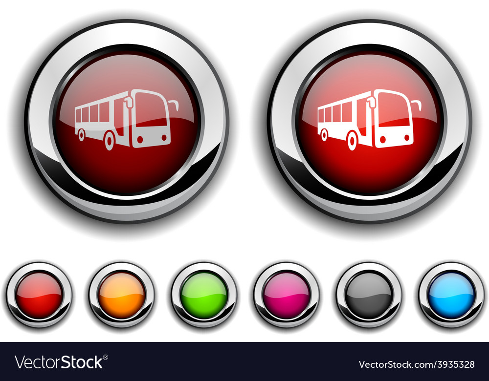 Bus button vector   Price: 1 Credit (USD $1)