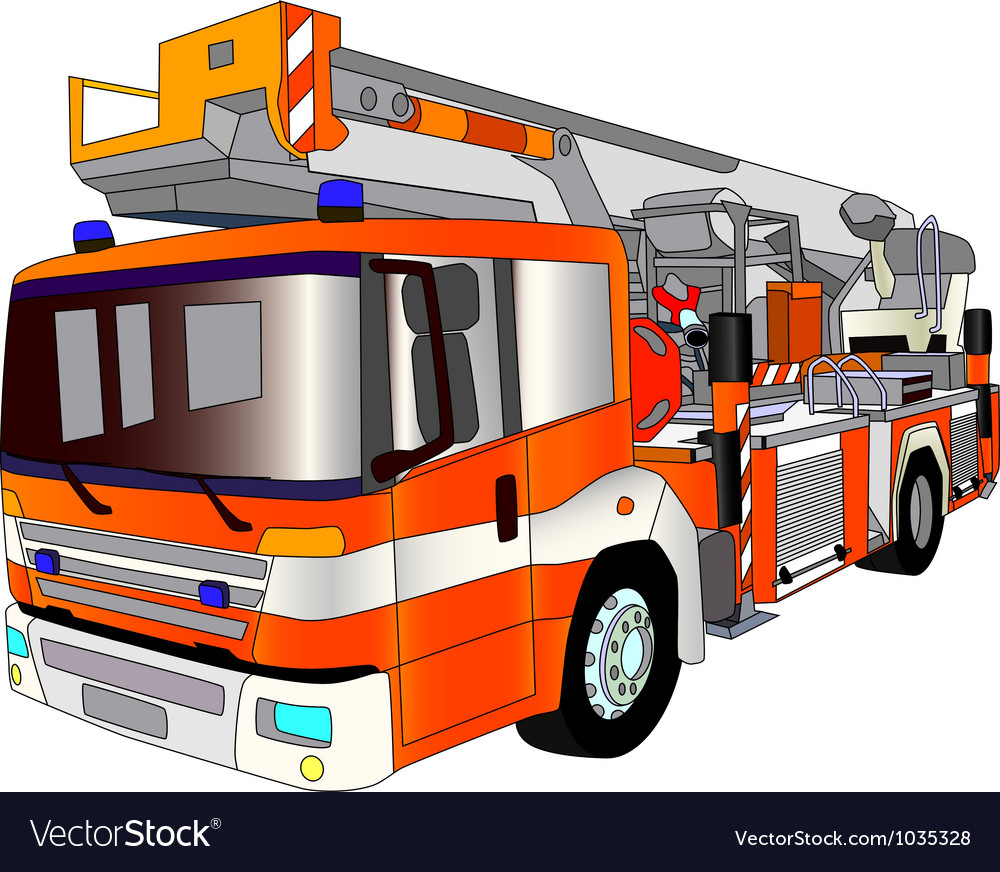 Fire engine lader vector | Price: 1 Credit (USD $1)