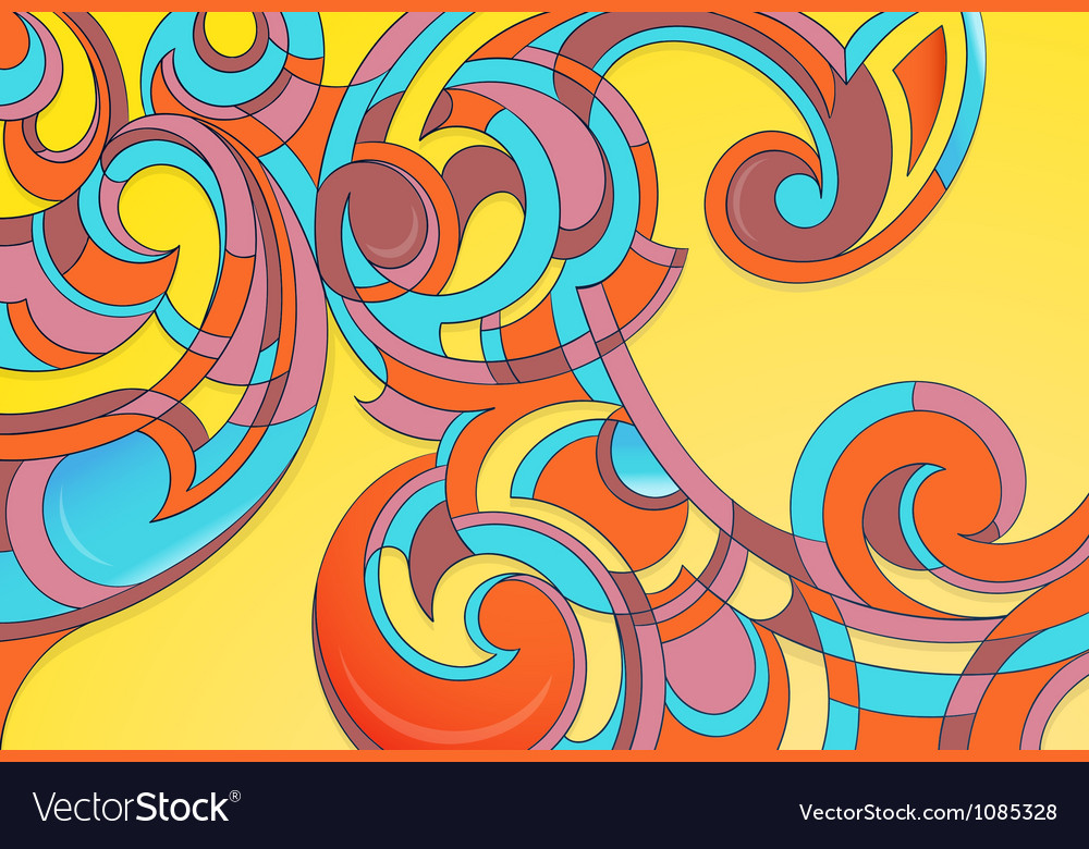 Modern curly art vector | Price: 1 Credit (USD $1)