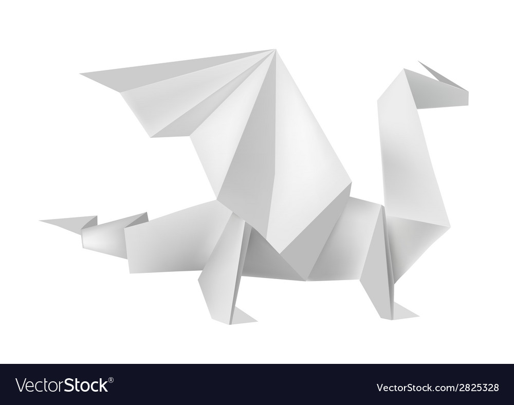 Origami dragon vector | Price: 1 Credit (USD $1)