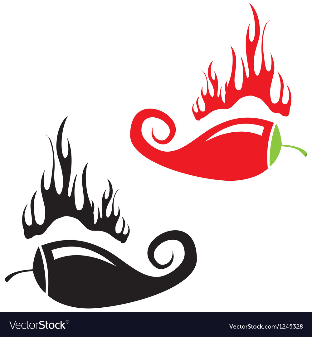 Red hot chili peppers icon vector | Price: 1 Credit (USD $1)