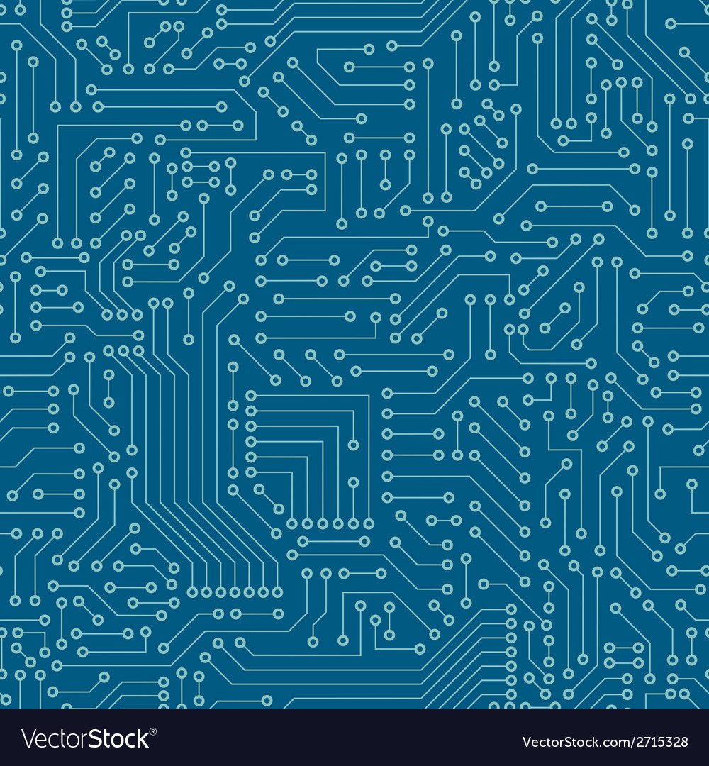 Seamless pattern computer circuit board vector | Price: 1 Credit (USD $1)