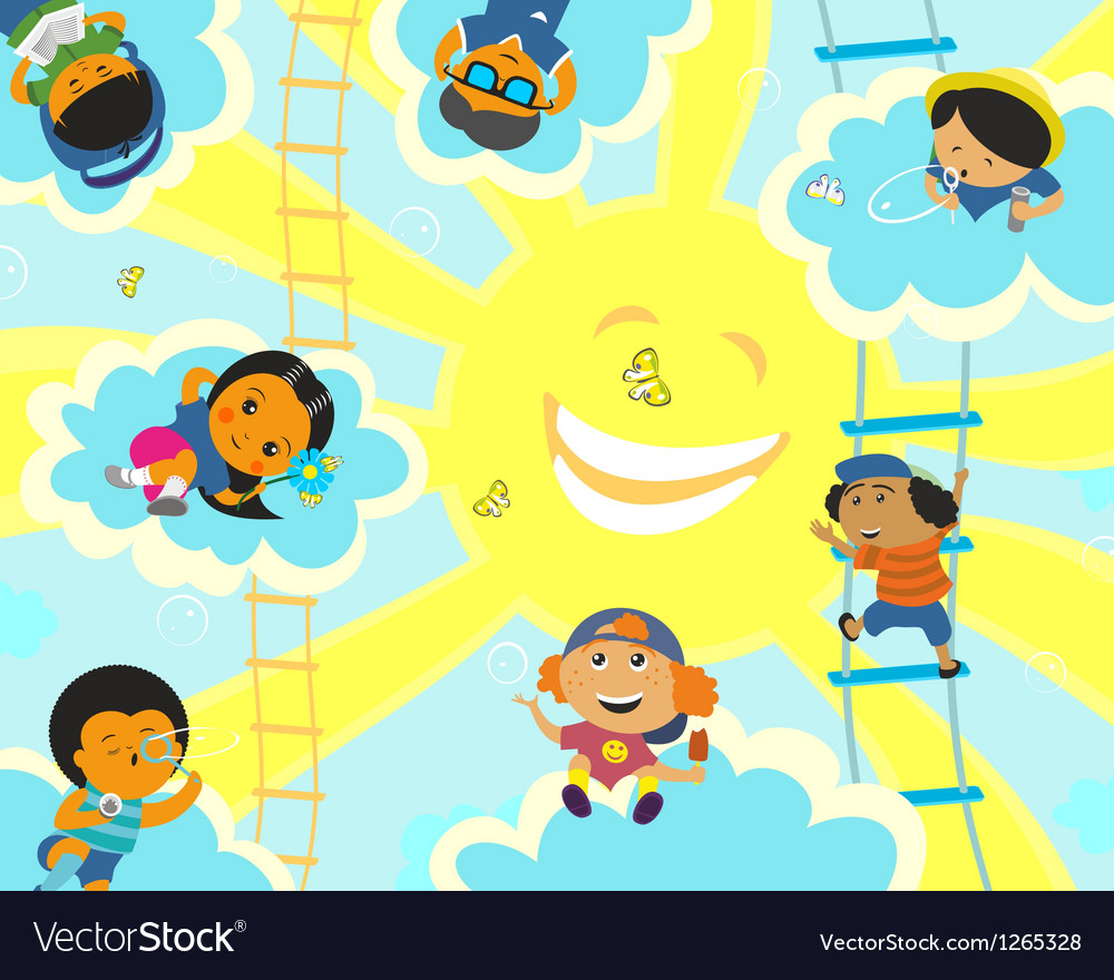 Solar camp for children vector | Price: 3 Credit (USD $3)