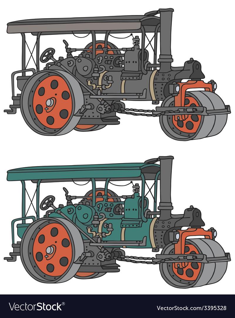 Steam roller vector | Price: 1 Credit (USD $1)