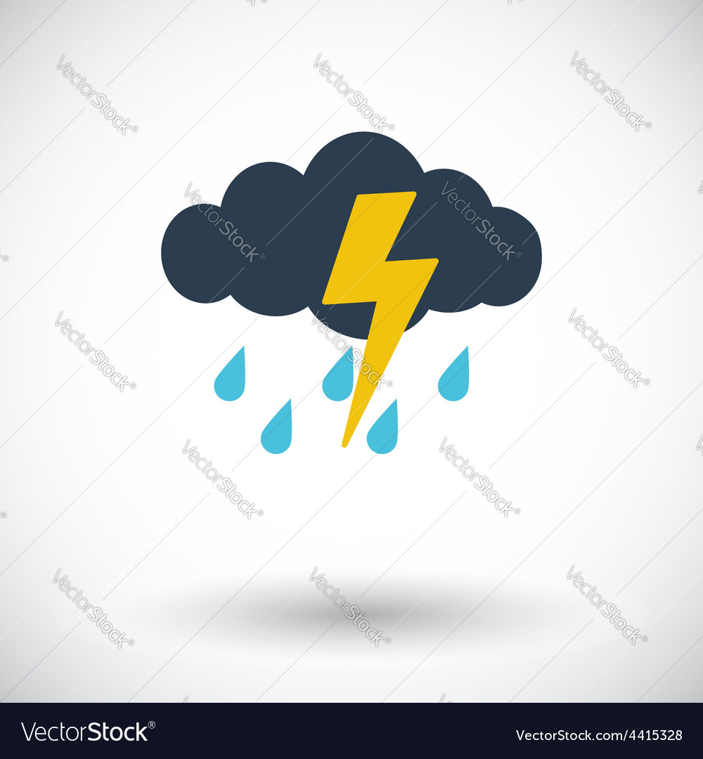 Storm icon vector | Price: 1 Credit (USD $1)