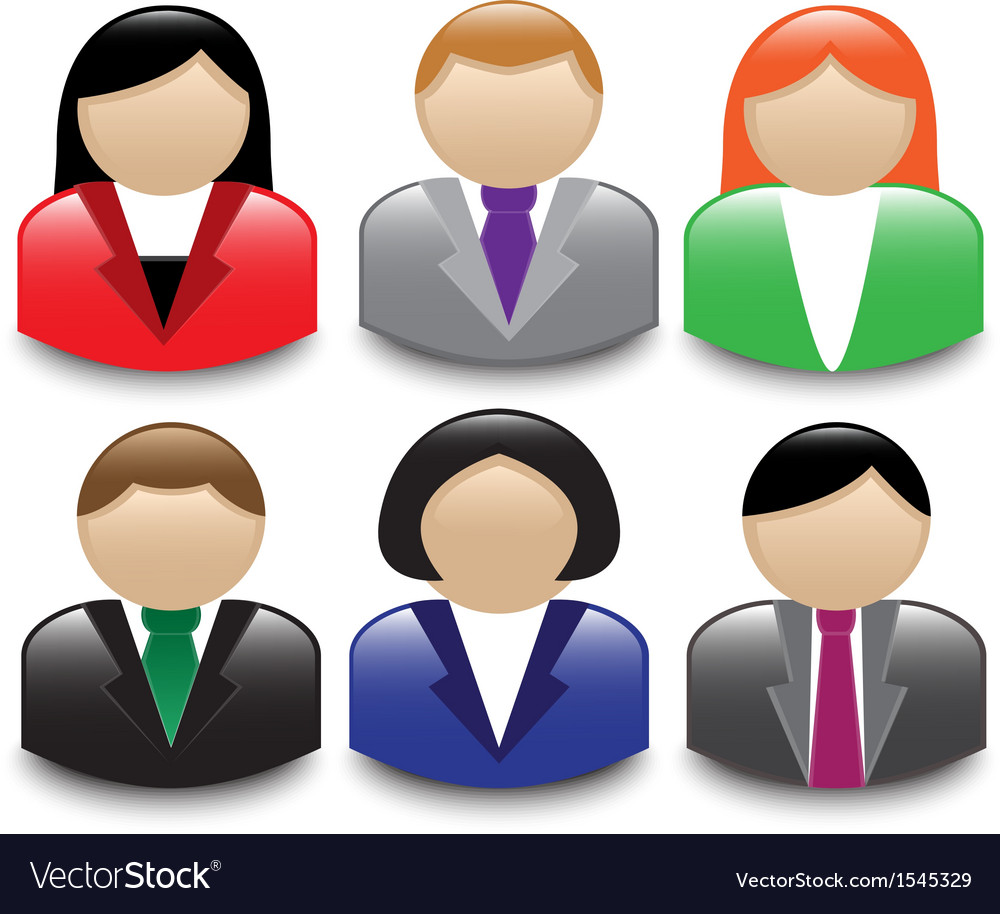 Avatars office workers vector | Price: 1 Credit (USD $1)