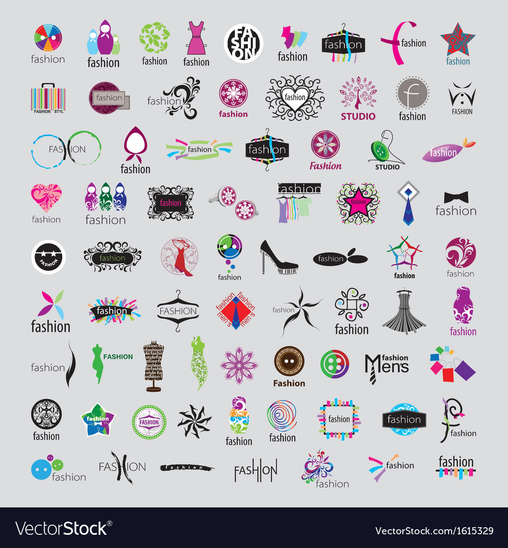 Biggest collection of logos of fashion vector | Price: 1 Credit (USD $1)