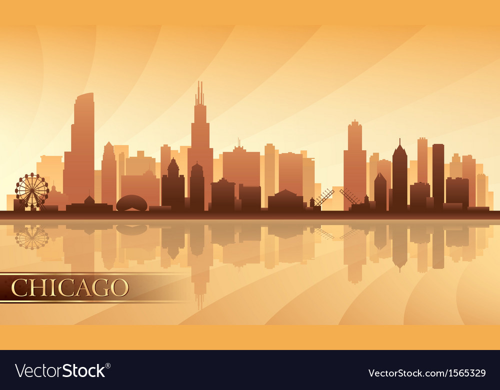 Chicago city skyline detailed silhouette vector | Price: 1 Credit (USD $1)