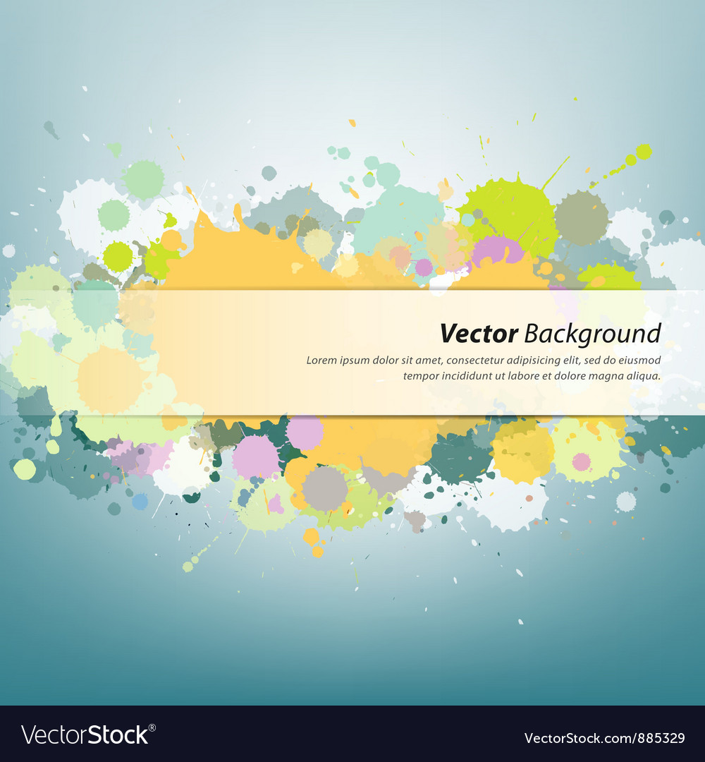 Colorful ink painting background vector | Price: 1 Credit (USD $1)