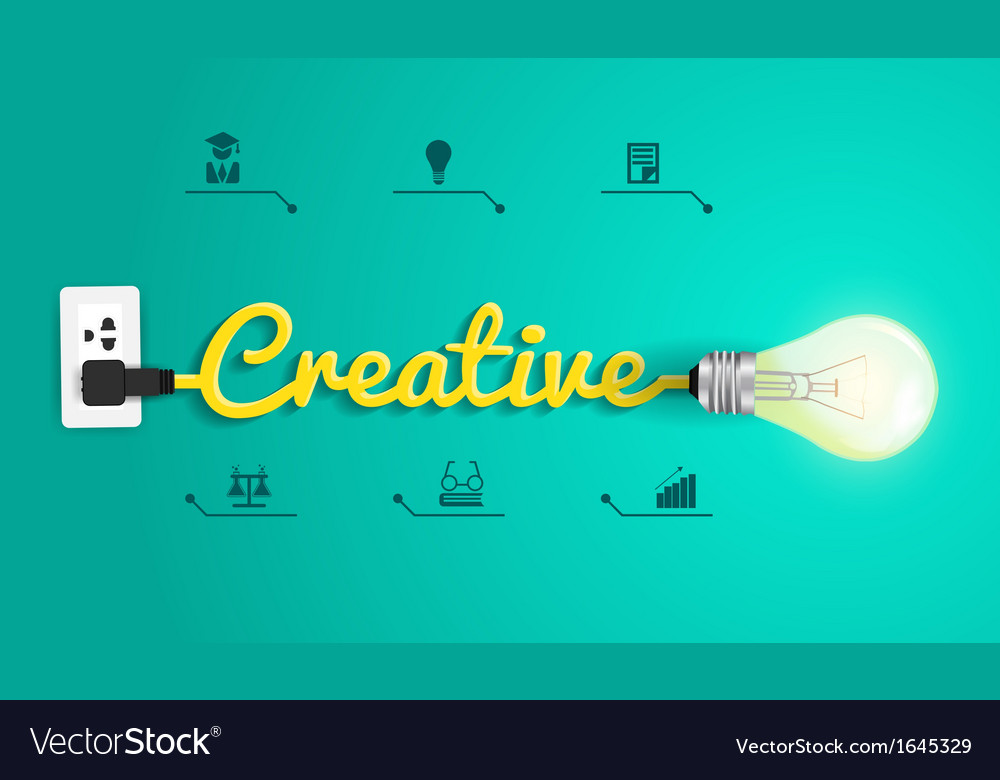 Creative concept modern design template light bulb vector | Price: 1 Credit (USD $1)