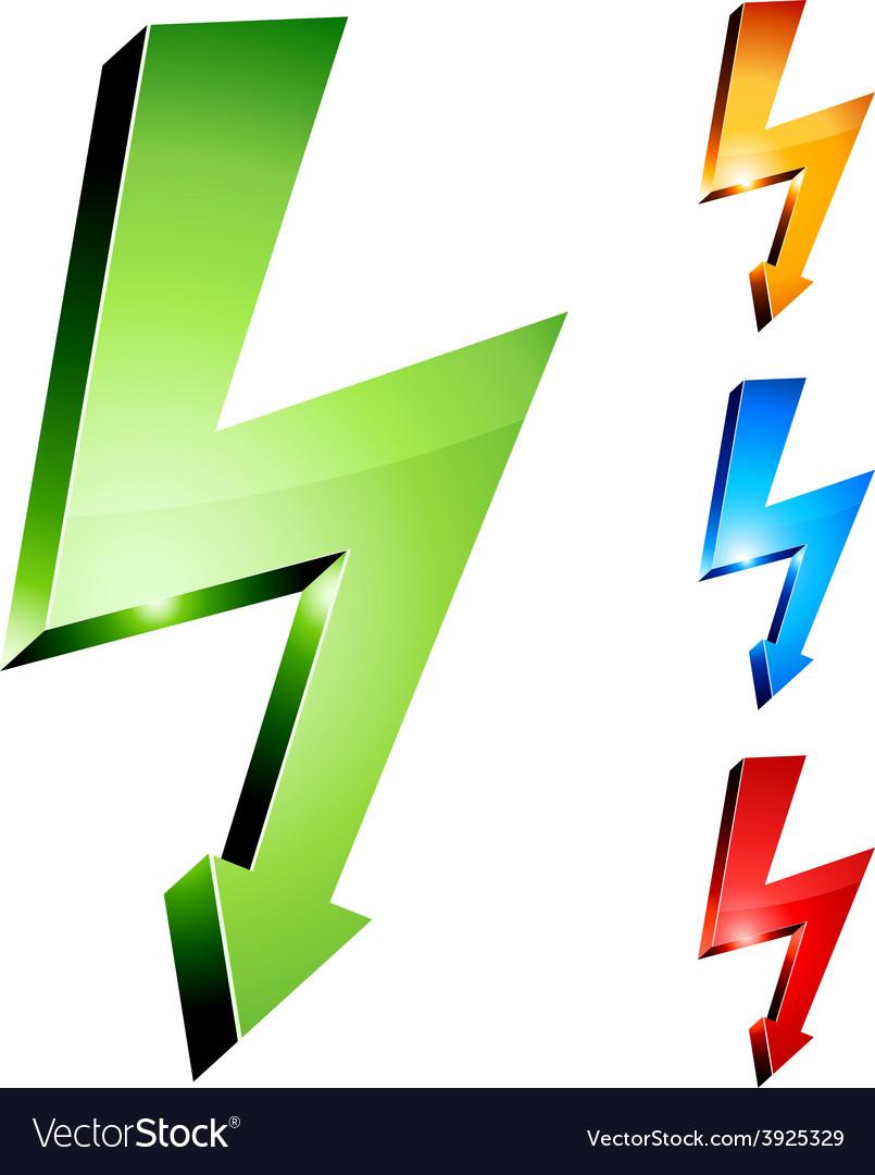 Electricity warning symbols vector   Price: 1 Credit (USD $1)