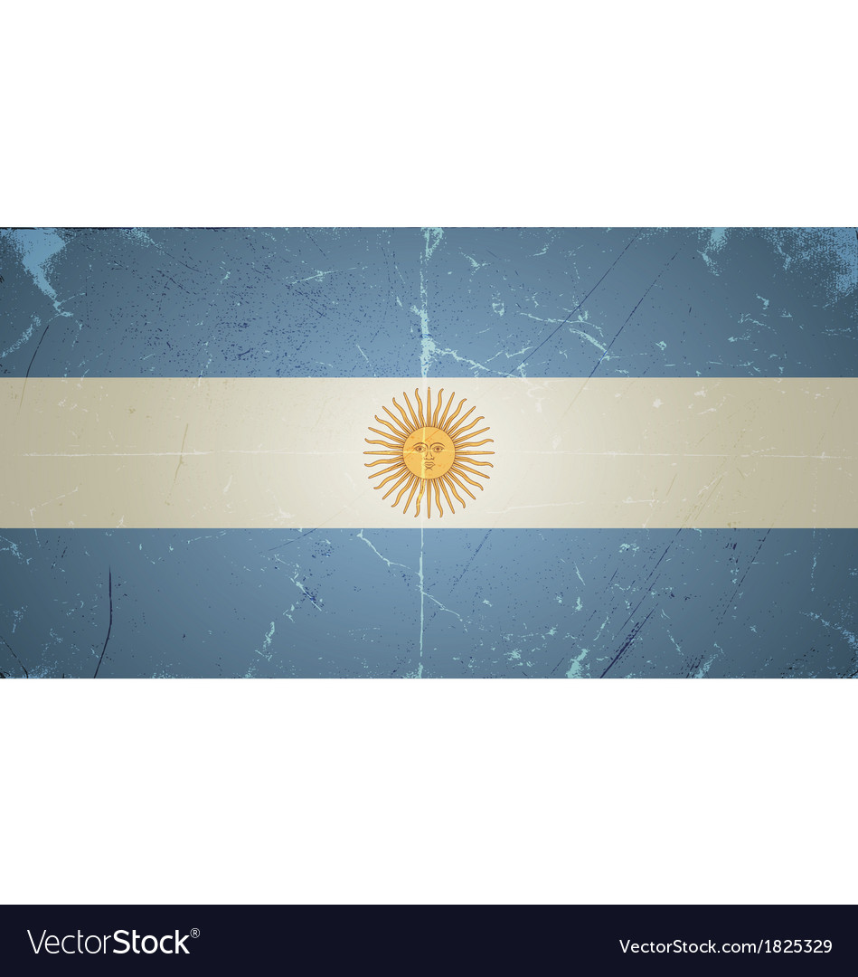 Grunge flags - argentina vector | Price: 1 Credit (USD $1)