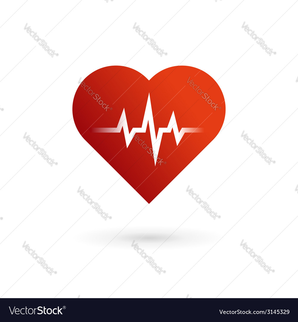 Heart cardiology symbol logo icon vector | Price: 1 Credit (USD $1)