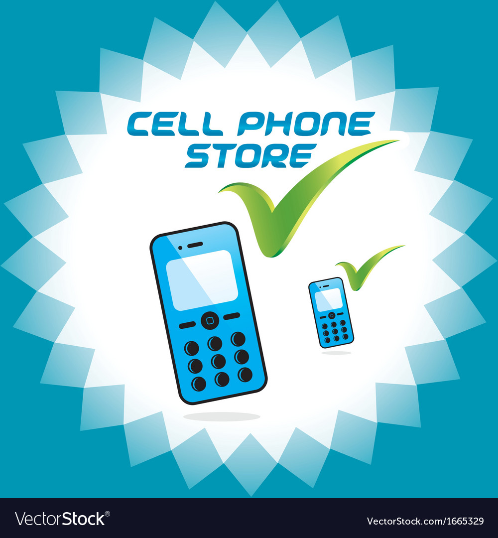 Mobile phone store icons vector | Price: 1 Credit (USD $1)