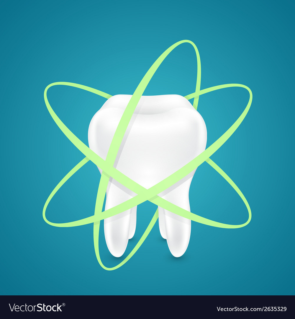 Protected from all sides healthy teeth vector | Price: 1 Credit (USD $1)