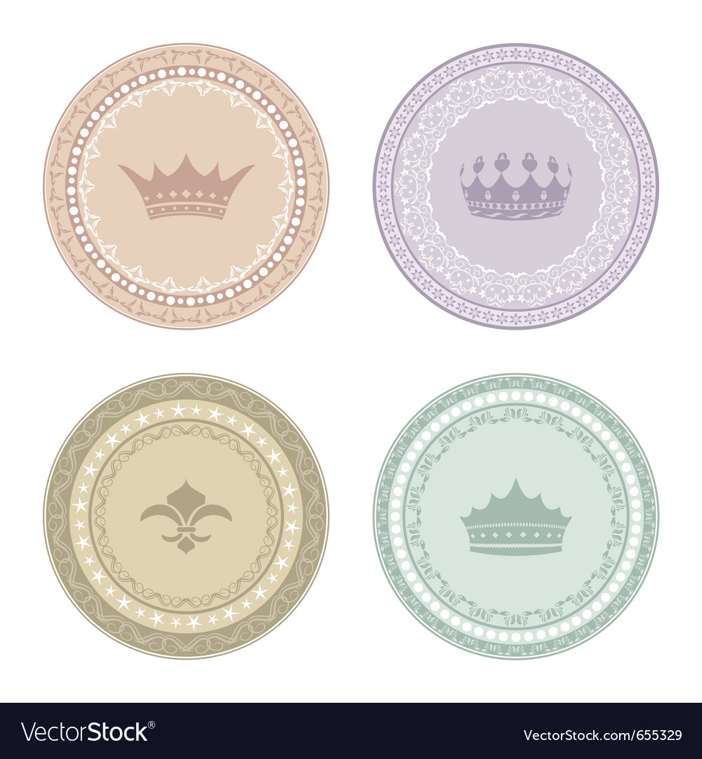 Set of vintage labels - vector | Price: 1 Credit (USD $1)