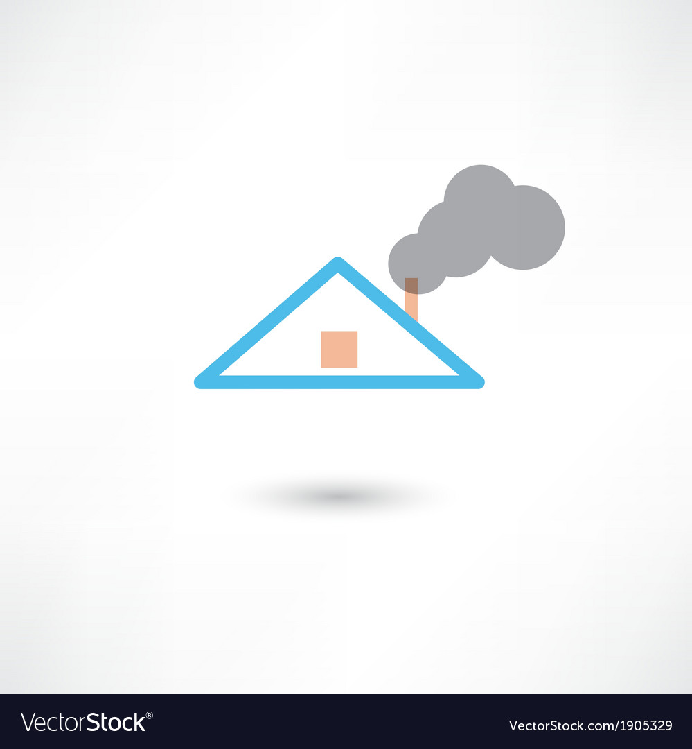 Smoke from the chimney vector | Price: 1 Credit (USD $1)