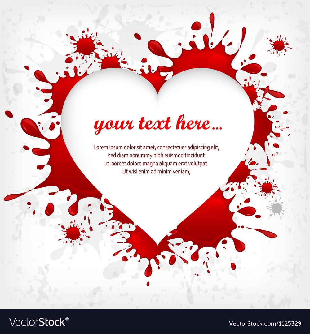 Splash heart red shape 10 v vector | Price: 1 Credit (USD $1)