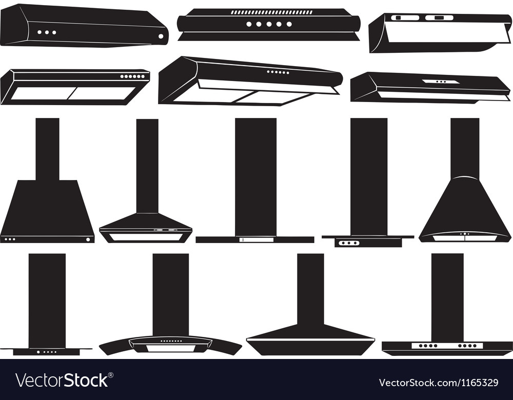 Stove hood set vector | Price: 1 Credit (USD $1)