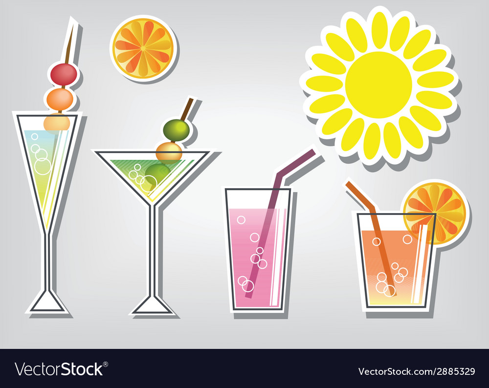 Summer cocktails vector | Price: 1 Credit (USD $1)