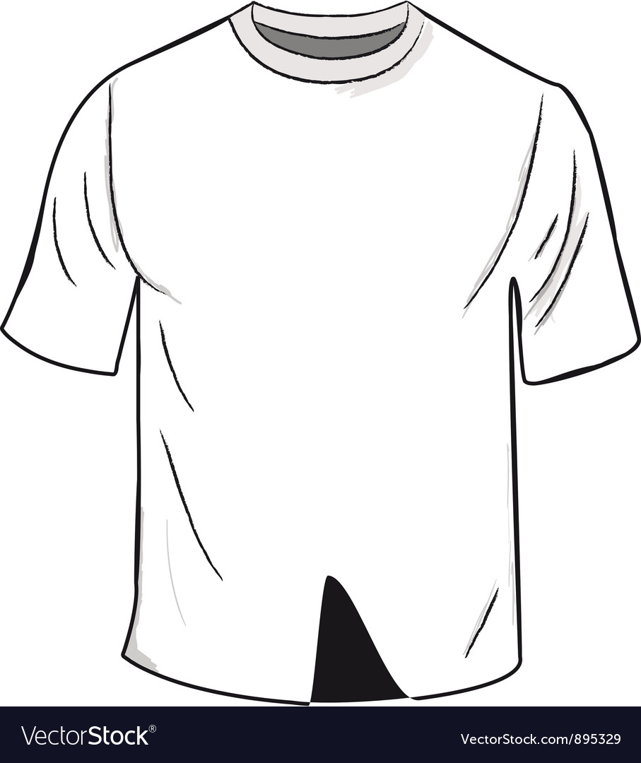 White t shirt template vector | Price: 1 Credit (USD $1)